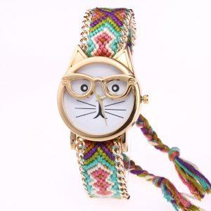 Reloj gato con gafas